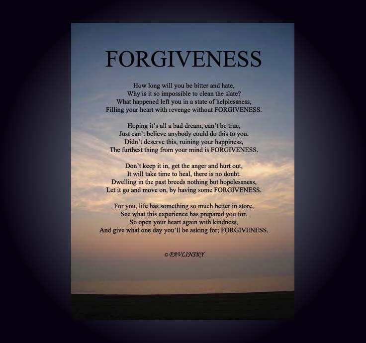 Forgiveness Poems And Quotes: Forgiveness Poems