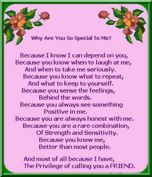You Are Special To Me Poems