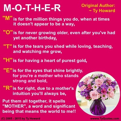 African american mothers day Poems