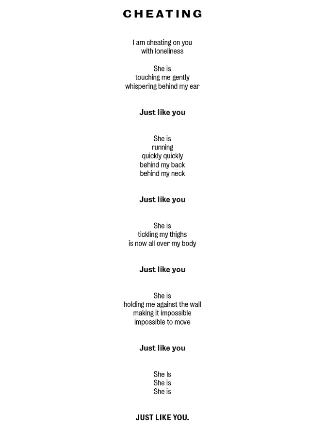 Forgiveness for cheating poems