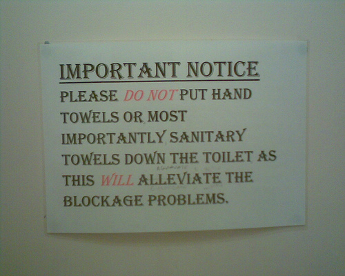 Toilet Cleanliness Notice