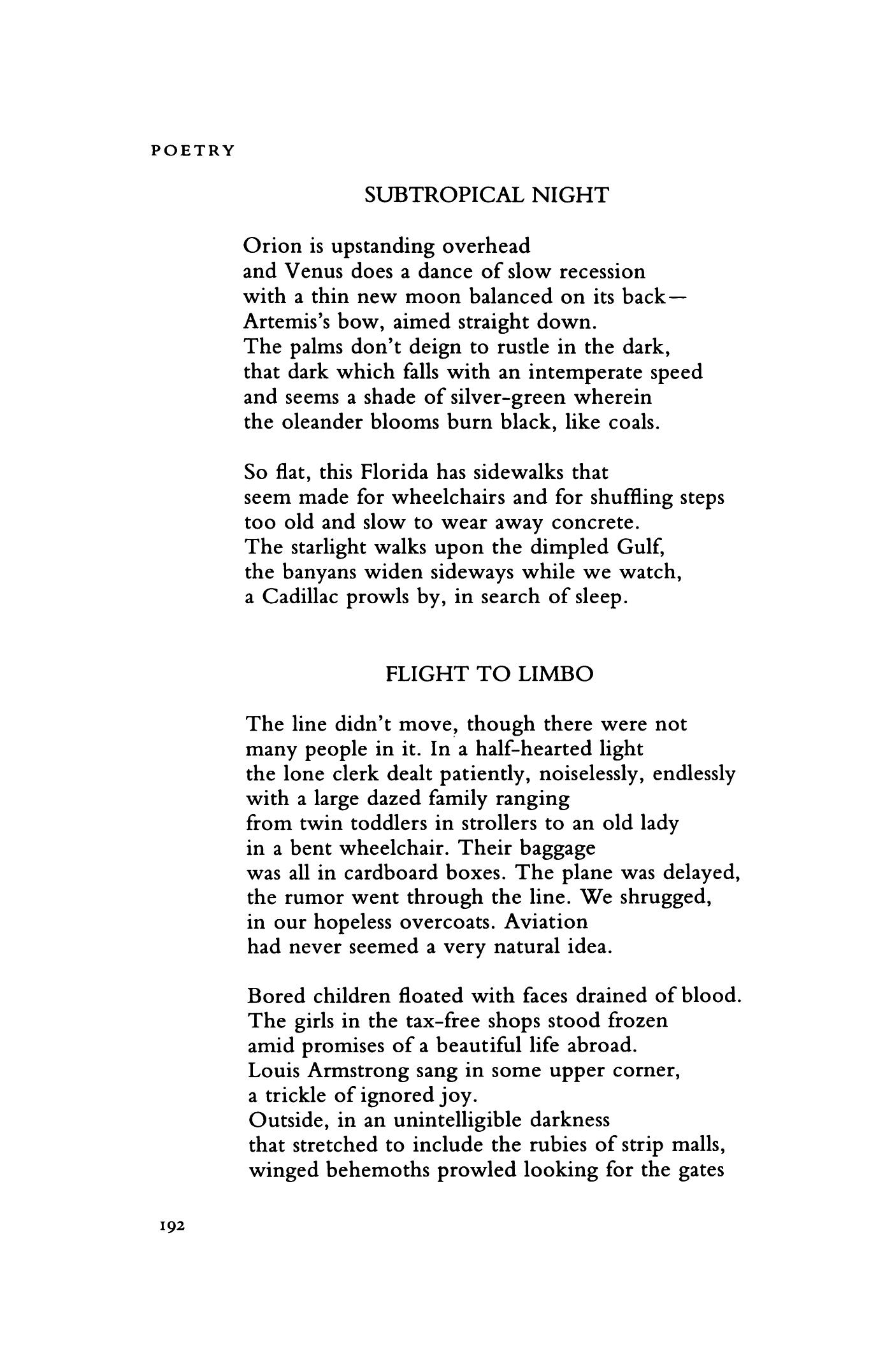 Updike Poems