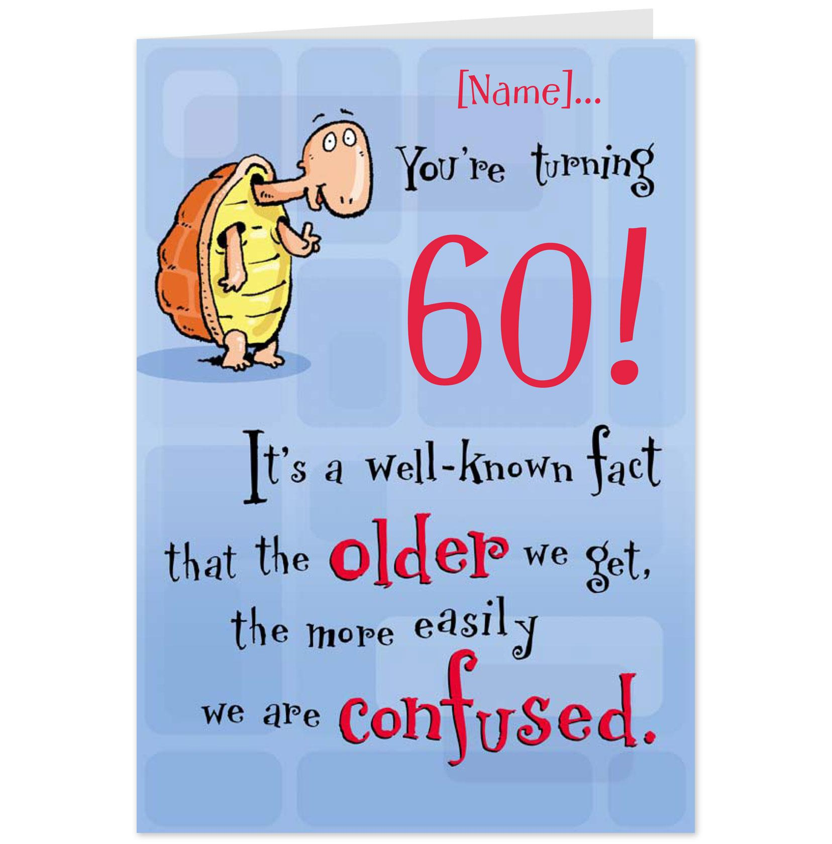 Awesome Funny 60th Birthday Cards Free