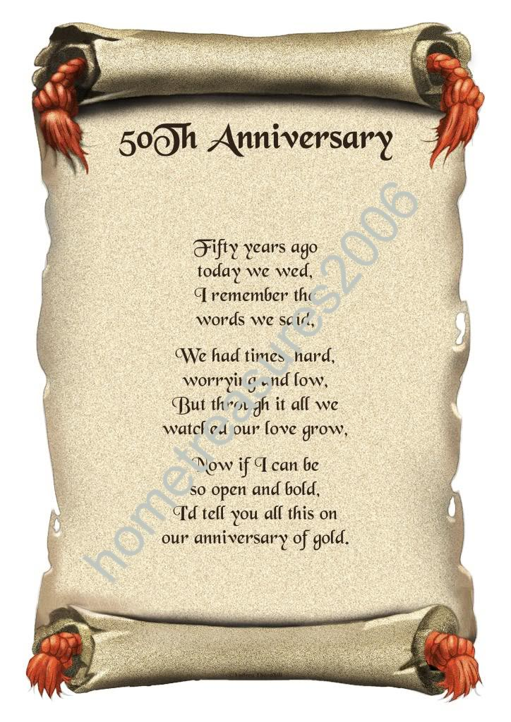 Th Anniversary Poems
