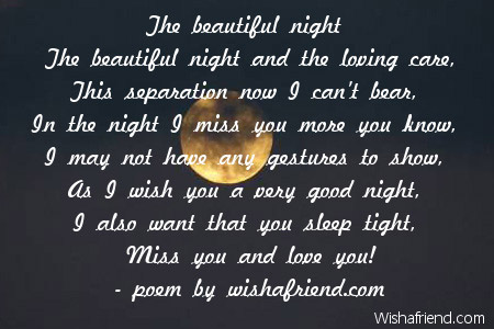 sweet goodnight poems for him