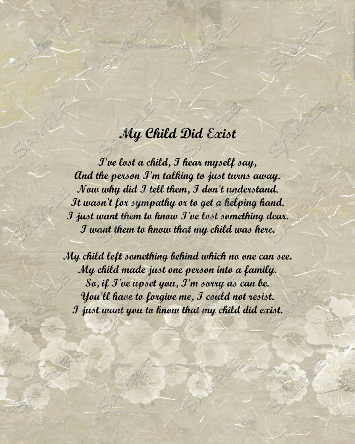 Infant Death Poems