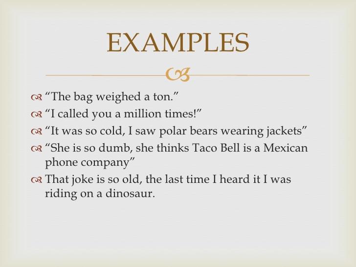 Hyperbole Poems