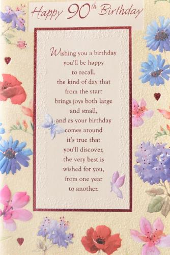 90th Birthday Poems