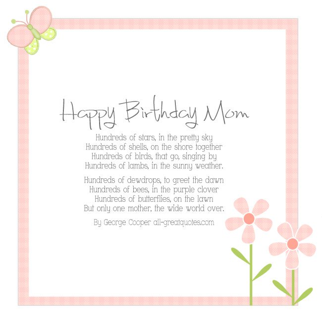 funny birthday card verses for mum