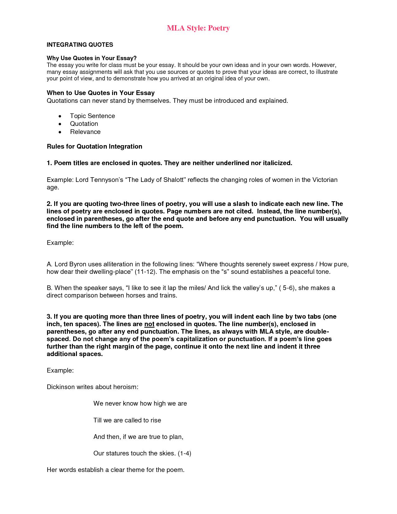 mla citation essay example