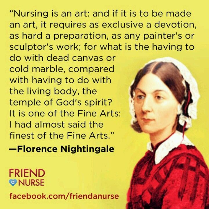 nursing as defined by me florence nightingale 'the florence nightingale medal', the highest international honor in the field of nursing, was named after nightingale as a tribute for her outstanding contribution in the medical discipline let us go through some of the famous quotes highlighting her thoughts and sayings.