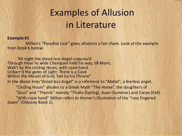 Allusion Poems