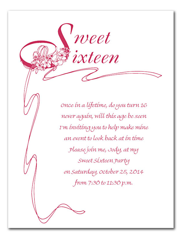 Sweet 16 Poems