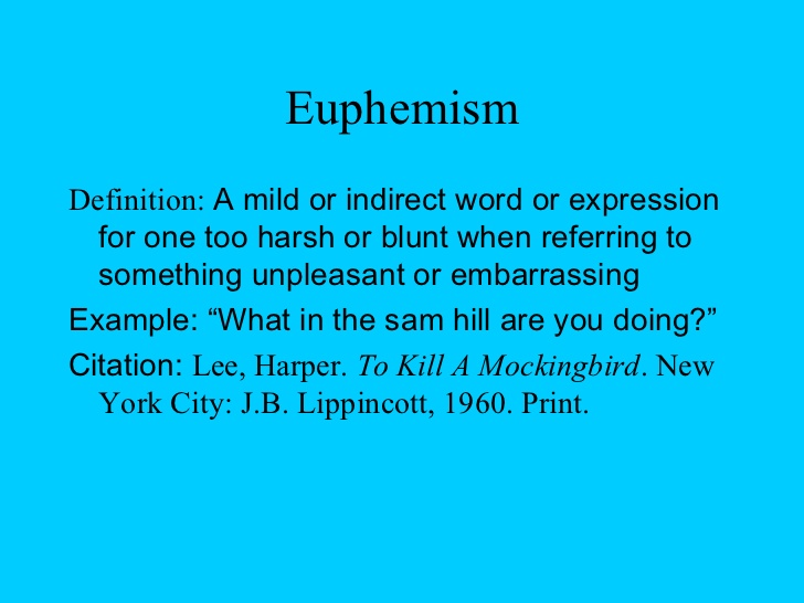 Euphemism Poems