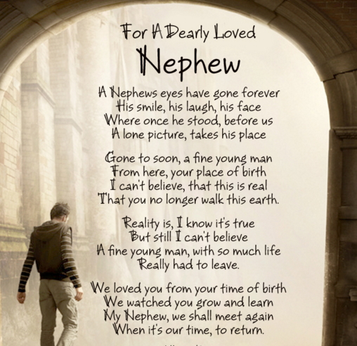 Happy Birthday And Rest In Peace Quotes: Rip Nephew Poems