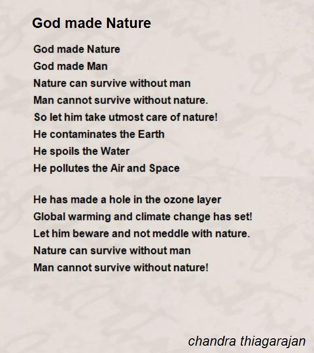 Nature Poems But how much often do you take time and enjoy being part of nature? nature poems
