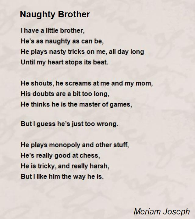 I Love You Brother Poems