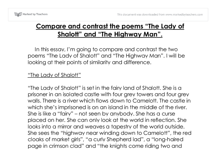 essays comparing and contrasting two poems In comparing and contrasting the two poems, it is logical to firstly acknowledge the titles, and to think about how they shape the way we read, and how they set the readers expectations baillie's title of 'a mother to her waking infant' is very clear and factual, and fully describes the stanzas that follow.