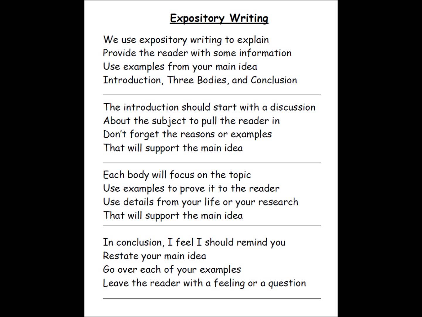 how to write an expository essay examples