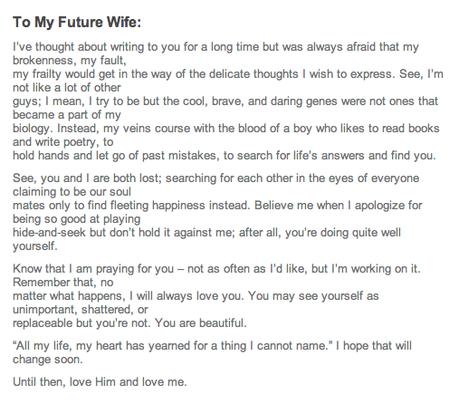 My future wife Poems Poems
