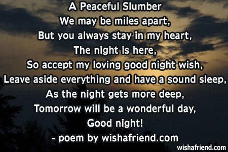 Cute Goodnight Poems
