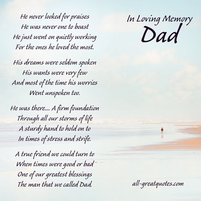 Father obituary Poems