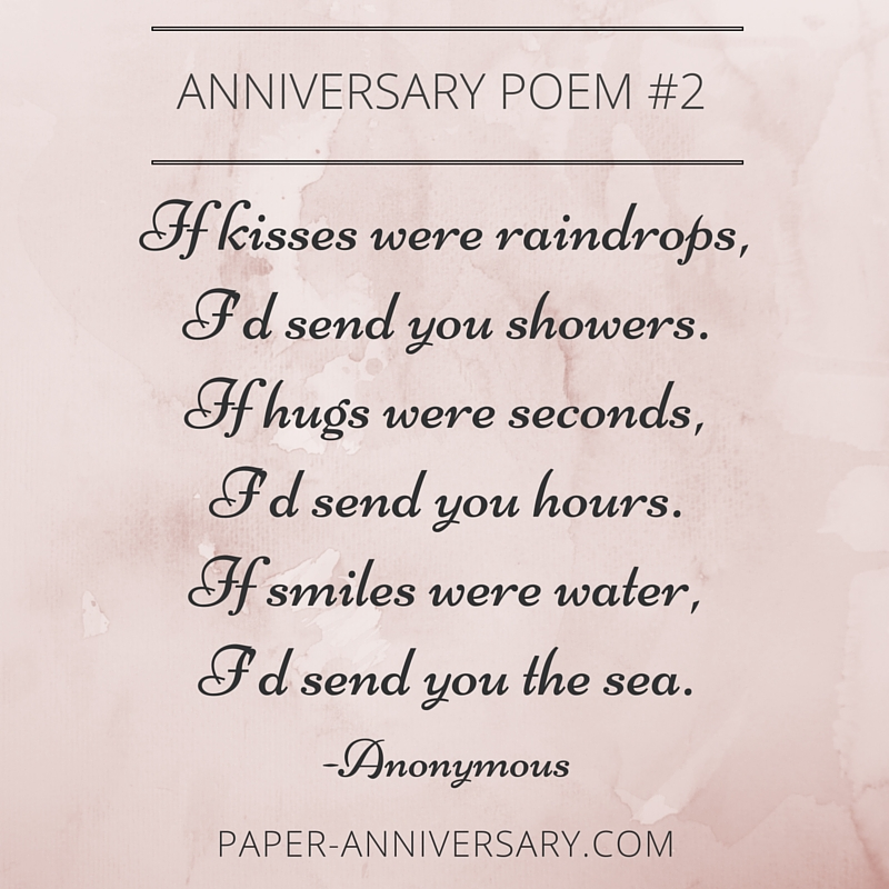 Anniversary Poems For Pas