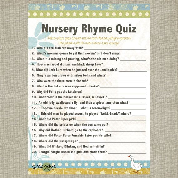 Baby Shower Quiz And Answers Uk Baby Shower Ideas