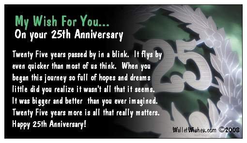 Happy 25th Work Anniversary Messages Work Anniversary Message Bules