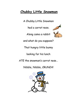 graphic regarding Chubby Little Snowman Poem Printable identified as Snowman Poems