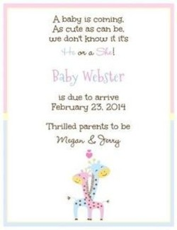 Birth announcement Poems